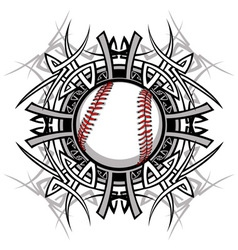 Baseball Softball Tribal Graphic Image vector image