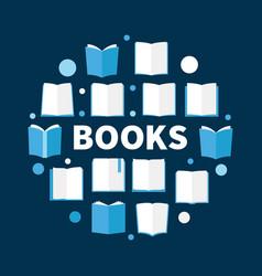 books round book circular vector image vector image