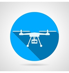Quadrocopter sign flat icon vector image