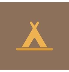 wigwam flat icon vector image