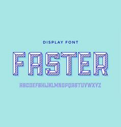 3d modern font colorful modern line alphabet vector image