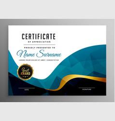 Abstract certificate appreciation template vector