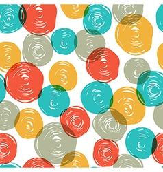 Abstract colorful retro seamless pattern balls doo vector image