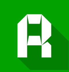 alphabet paper cut letter vector image