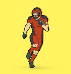 american football player action sport concept gra vector image