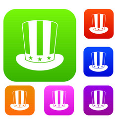 american hat set collection vector image