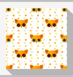 Animal seamless pattern collection with fox 5 vector image