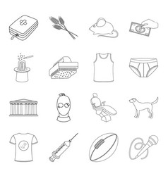 Art prison finance and other web icon in outline vector