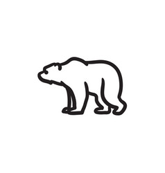 Bear sketch icon vector