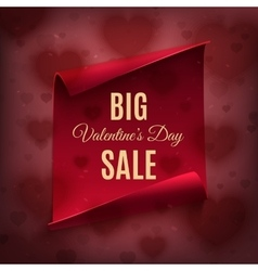 Big valentines day sale poster template vector