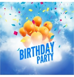birthday party poster sky clouds happy vector image