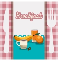 breakfast food healthy nutrition utensils vector image