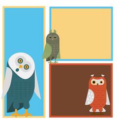 Cartoon owl bird cute character sleep sweet owlet vector
