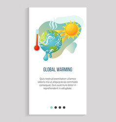 cataclysm high degree hot weather warming app vector image