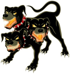 Cerberus on white vector