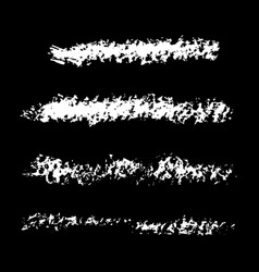 chalk brush set vector image