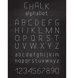 Chalk grunge font vector image