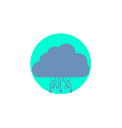 Cloud computing data hosting network glyph icon vector