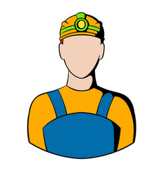 coal miner icon icon cartoon vector image