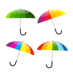 Colorful Umbrellas Set vector image
