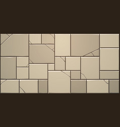 Cracked stone block wall vector