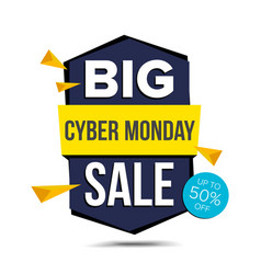 Cyber monday sale banner advertising vector