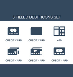 Debit icons vector