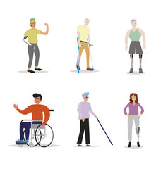 Disability people with disabilities vector