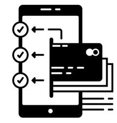 E-wallet transfer to multiple accounts vector