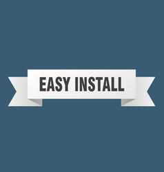 Easy install ribbon easy install paper band vector