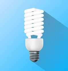 Energy saving lamp Flat graphics vector
