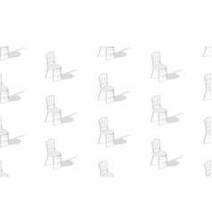 Eps10 seamless pattern chairs with shadows on vector