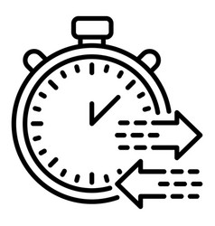Export time icon outline style vector