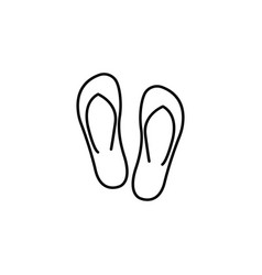 flip flops line icon travel tourism vector image