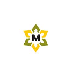 Flower infinity letter m vector