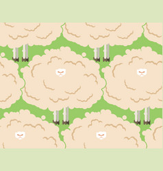 hairy sheep flock seamless pattern shaggy lamb vector image