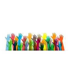 Hands of different colors cultural vector