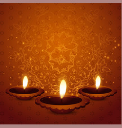 Hindu diwali festival beautiful background vector