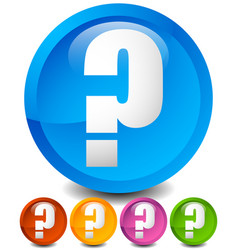 icon with question mark in 5 color questions vector image