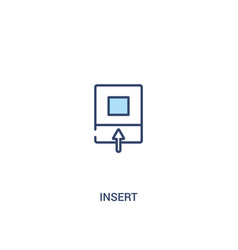 insert concept 2 colored icon simple line element vector image