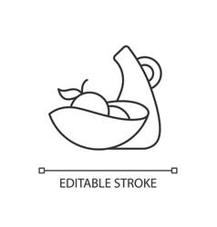 Irregular shape tableware linear icon vector