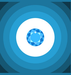 isolated brilliant flat icon diamond vector image