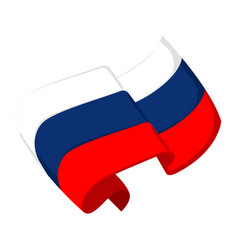 Isolated flag of russia vector
