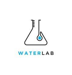 laboratory icon technologytest tube symbol logo vector image