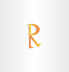 letter r orange icon symbol vector image