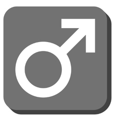 Male Symbol Rounded Square Icon vector image