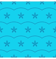 marine seamless pattern with sea starfish vector image