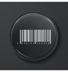 modern black glass circle icon vector image