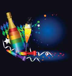 new year rainbow party background vector image