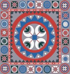 ornamental winter design vector image